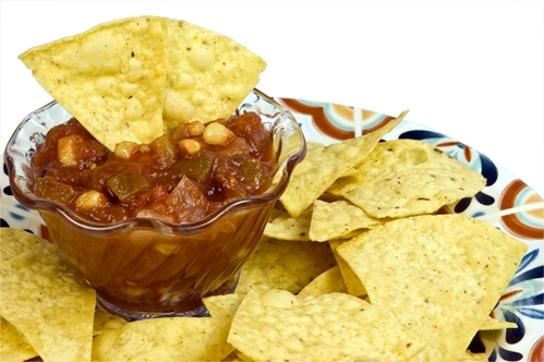 Chips and salsa is the way to go during the Super Bowl - stock up now to shore up inventory.