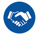 Customer Employee Handshake icon